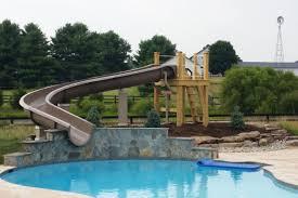 backyard pool with slides. Pool Water Slides Backyard With