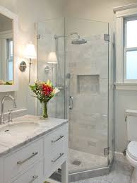 tile showers for small bathrooms. Corner Shower - Small Transitional Gray Tile And Stone Marble Floor Idea In Showers For Bathrooms