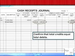 Bookkeeping Journal Template Cash Receipts Journal Template