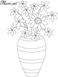 Small Picture Flower pot coloring page 13