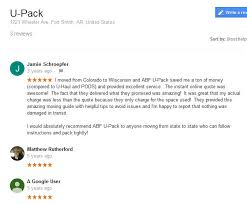 Upack Quote Stunning ABF UPack Moving Reviews 48 Movers Quotes