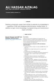 Database Administrator Resume Samples Visualcv Resume Samples Database