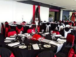 black and red wedding decorations