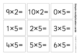Simple Multiplication Flash Cards 2 5 And 10 Times Tables Sb5629