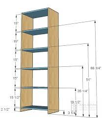 How to build closet shelves Build In Closet 6116 25 12u2033 shelves 14u2033 Plywood 82 12u2033 27u2033 back 13 25 12u2033 footer Ana White Ana White Simple Closet Organizer Diy Projects