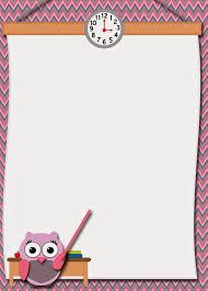 free printable borders teachers free printable teacher owl card free printable stationery