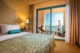 On Suite Bedroom Terrace Club Hotel Suites Dubai Atlantis The Palm