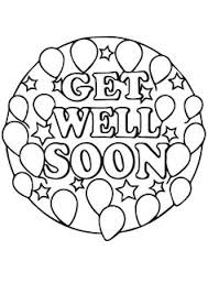 Small Picture Get well soon coloring pages to download and print for free