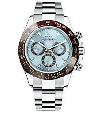 amazon com rolex cosmograph daytona ice blue dial platinum mens rolex cosmograph daytona ice blue dial platinum mens watch 116506