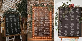 Wedding Table Seating Chart 18 Chic Wedding Table Seating Chart Sign Ideas To Love