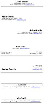 Resume Header Samples Resume Heading Samples 1
