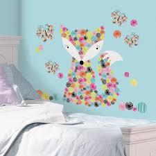 prismatic fox giant wall sticker