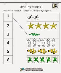 Math Worksheets Kindergarten Maths Online Printables Match It ~ Koogra