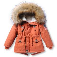 snow wear girls boys winter coat childrens parkas winter jackets infant clothing faux fur hooded baby