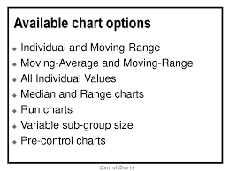 Difference Between Control Chart And Pre Control Chart Other Variable Control Charts Ppt Download