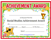 achievement awards for elementary students free printable social studies achievement award certificates