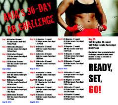 Anjas 30 Day Ab Challenge Anja Garcia Fitness Trainer