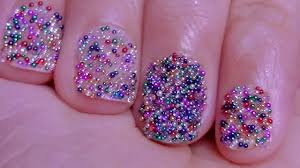 Cute 12 Color Caviar / Micro-beads Nails - YouTube