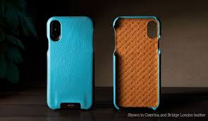 vaja custom grip iphone x leather case