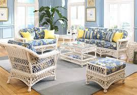 white beach furniture.  White 6 Piece Harbor Beach Wicker Furniture Set  WHITE For White