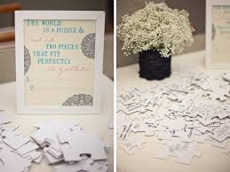 photo guest sign in book wedding guest book alternative puzzle guest sign in