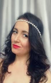 Hairband Hairstyle ivory bridal pearl headbandwedding hairbandivory hair band 3746 by wearticles.com
