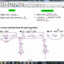 factoring x2 bx c worksheet answers resume trinomials of the form ax2 by grouping solving 0 youtub