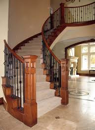 wood stair railing.  Railing Iron And Wood Stair Railing Deck Railing Ideas At Http For I