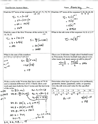 Arithmetic Sequence Worksheet Answers Geometric And Arithmetic Sequence Worksheet Math Arithmetic