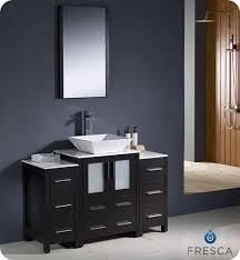 fresca torino single 48 inch modern bathroom vanity espresso with vessel sink