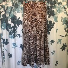 Htf Leopard Print Llr Maxi Skirt