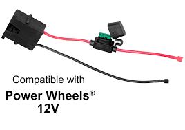 safeamp acirc reg  wire harness connector for fisher priceacircreg power wheelsacircreg 12 volt sla battery