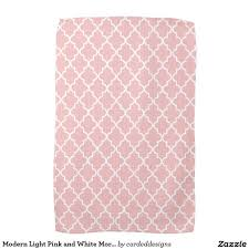 Modern Light Pink And White Moroccan Quatrefoil Kitchen
