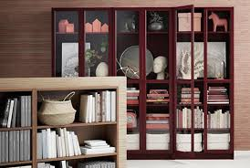 Glass shelves bookcase Wall Mounted Bookcase With Glassdoors Pavilion Broadway Bookcases White Bookcases Ikea