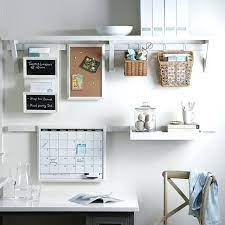 ikea home office wall organizer system