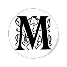 fancy letter m fancy letter m gifts on zazzle