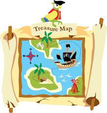 pirate treasure map wall mural