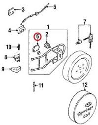 2000 kia sportage car truck parts 1998 2002 kia sportage spare tire carrier striker oem 0k081 56990 5dr wagon