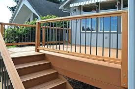 image of how to install deck railing posts