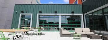 glass garage doors restaurant. Awesome Overhead Glass Garage Door With Rooftop Aluminum Doors Restaurant