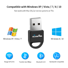 Headset Vista XP 32/64 Bit Laptop PC for Bluetooth Speaker Rocketek  Bluetooth 4.0 USB Dongle Adapter Plug and Pla Keyboard Bluetooth  Transmitter Receiver Supports Windows 10 7 Mouse and More 8 Bluetooth