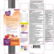 Ibuprofen Concentrated Drops Dosage Chart Parents Choice Infants Ibuprofen Suspension Drops Wal