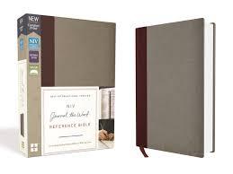 Niv Journal The Word Reference Bible Burgundygray Seacoast