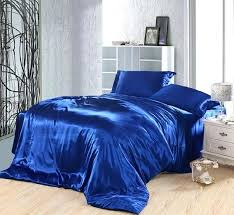 royal blue duvet covers bedding set silk satin king size queen full twin double fitted bed