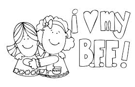 Small Picture best friend coloring pages best friend coloring pages to download