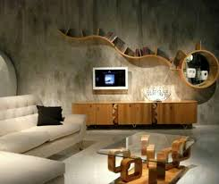 living room shelves on wall large
