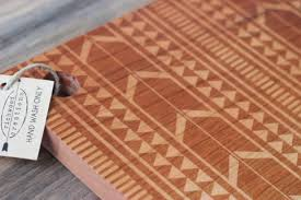 Cutting Board Patterns Delectable Tribal Design Cutting Board Wood Engraved Modern Aztec Pattern