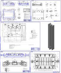 Изготовление коробчатой балки Металлоконструкции Чертежи в  сборки сварки рештака