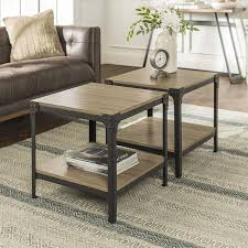 we furniture angle iron wood end tables in driftwood steel coffee cup steel coffee table base