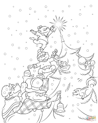 Small Picture The Berenstain Bears Christmas Tree Coloring Page Free Printable